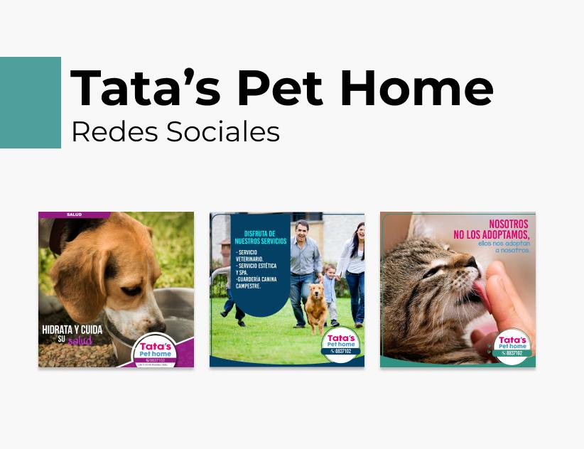 Portada Behance - Tatas Pet Home Redes Sociales