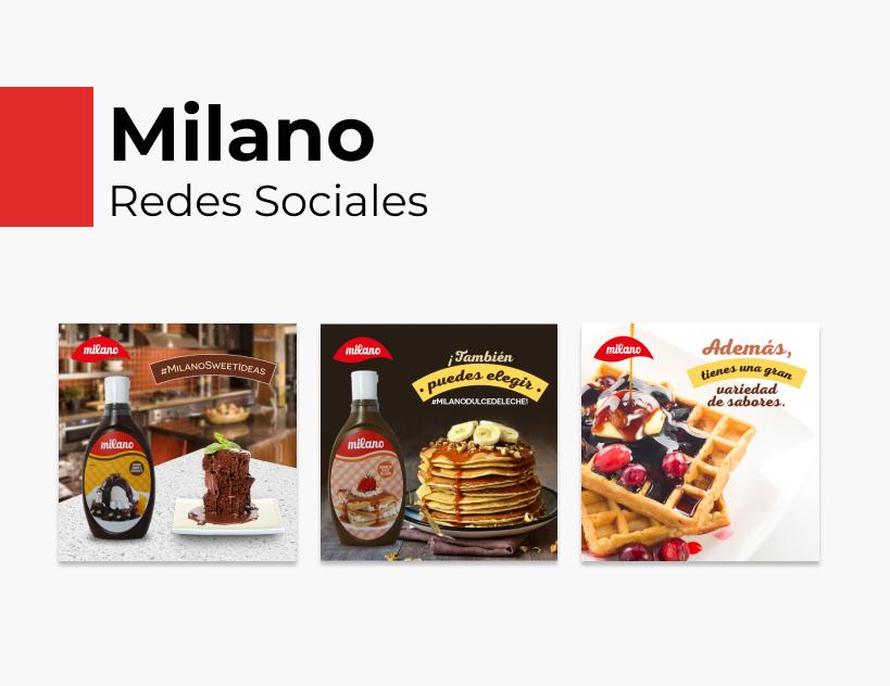 Portada Behance - Milano Redes Sociales
