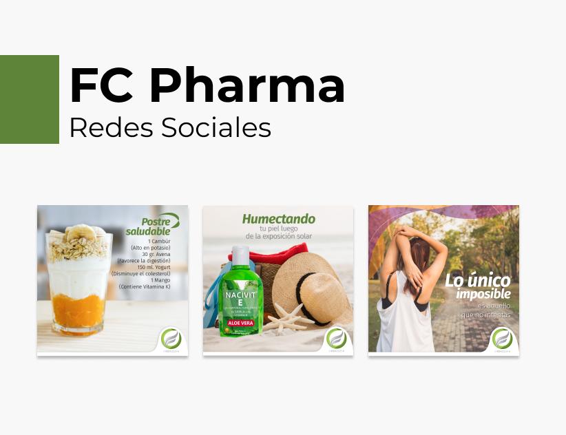 Portada Behance - FC Pharma Redes Sociales