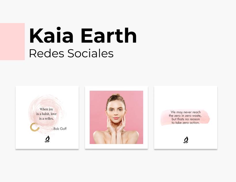 Portada Behance - Kaia Earth Redes Sociales