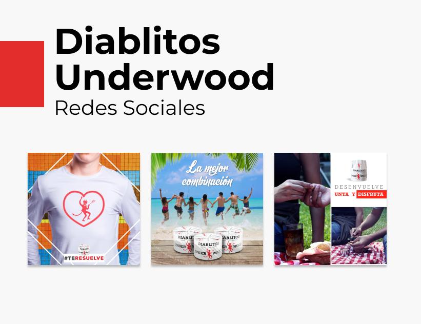 Portada Behance - Diablitos Underwood Redes Sociales