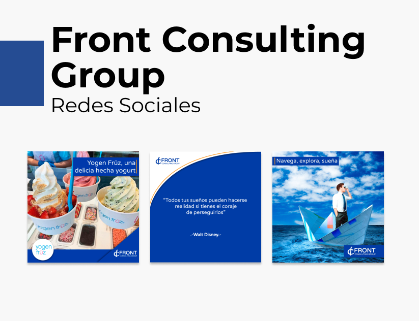 Portada Behance - Front Consulting Group Redes Sociales
