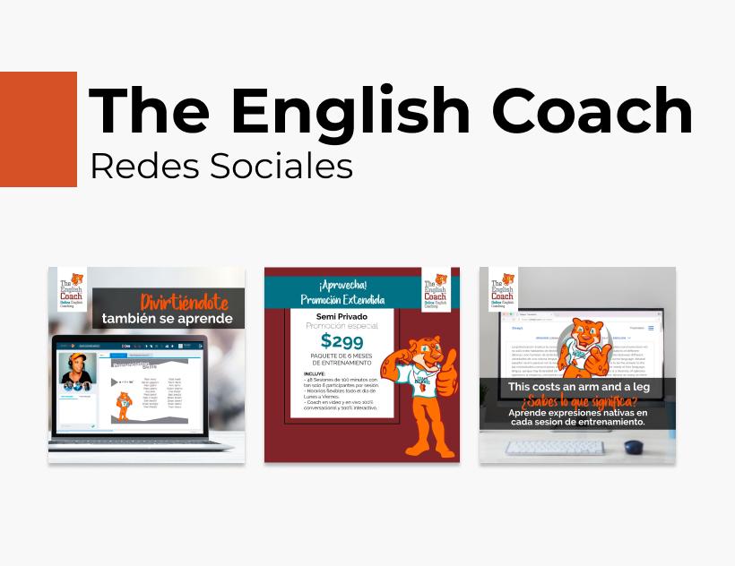 Portada Behance - The English Coach Redes Sociales