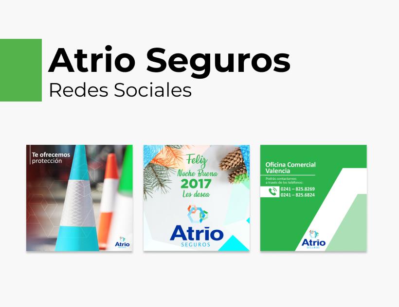 Portada Behance - Atrio Seguros Redes Sociales
