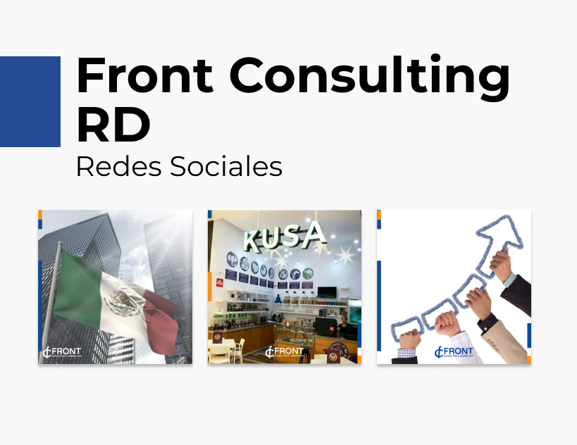 Portada Behance - Front Consulting RD Redes Sociales