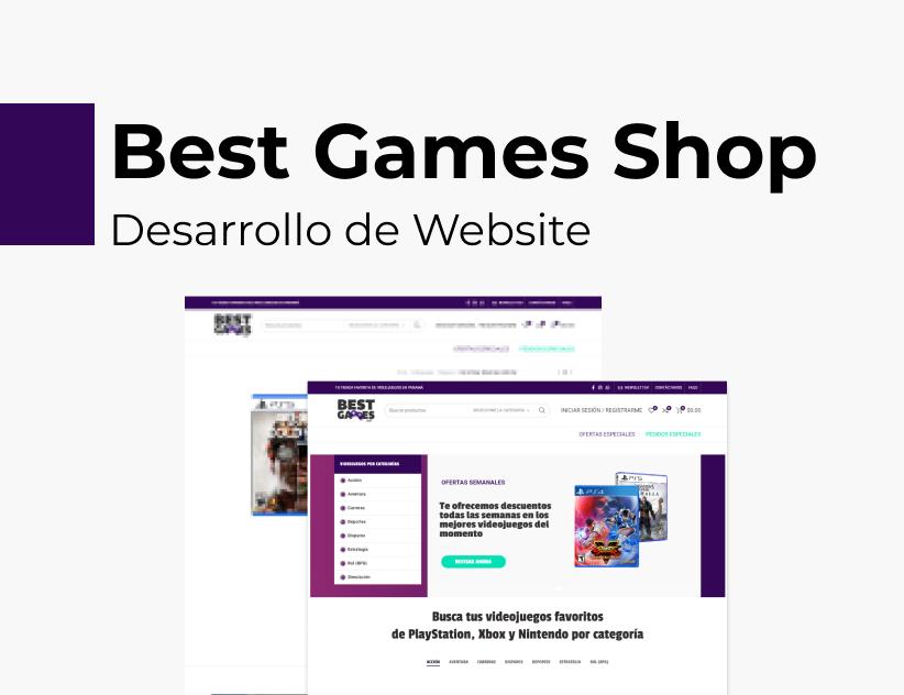 Portada Behance - Best Games Desarrollo Web