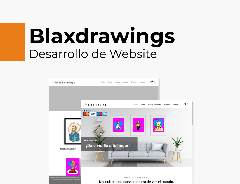 Portada Behance - Blaxdrawings Desarrollo Web