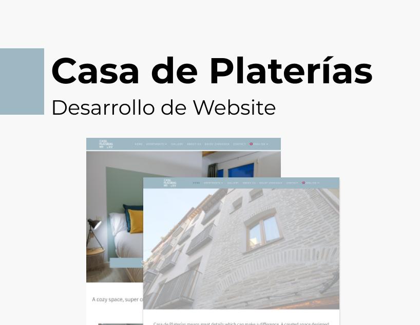 Portada Behance - Casa de Platerías Desarrollo Web