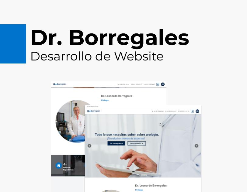 Portada Behance - Dr. Borregales Desarrollo Web