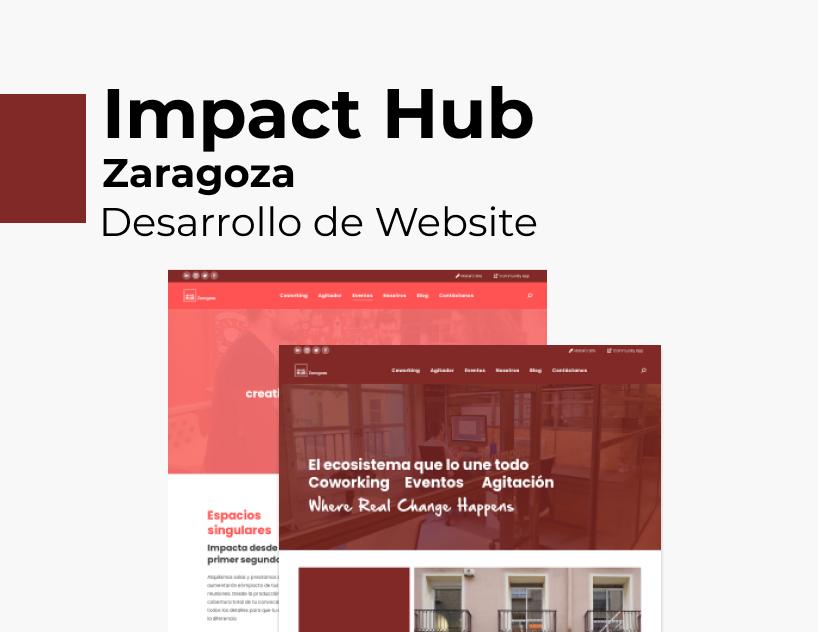 Portada Behance - Impact Hub Zaragoza Desarrollo Web