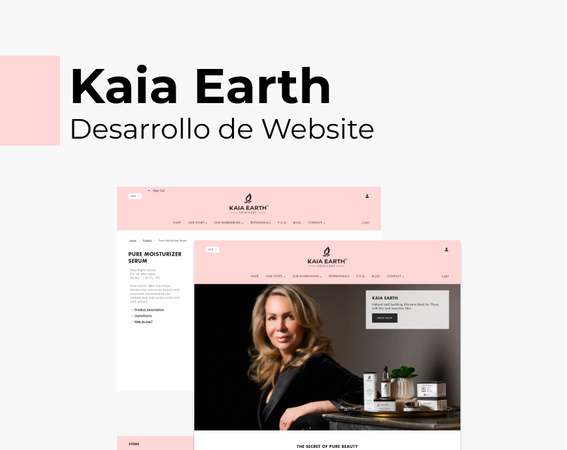 Portada Behance - Kaia Earth Desarrollo Web