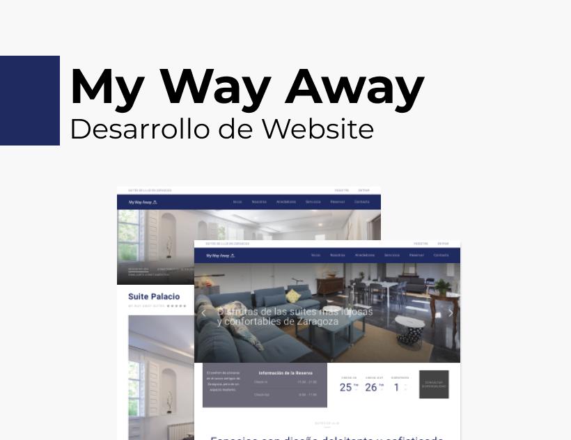 Portada Behance - My Way Away Desarrollo Web