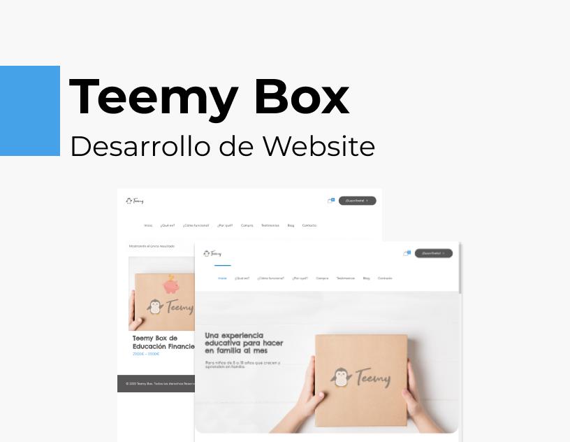 Portada Behance - Teemy Box Desarrollo Web