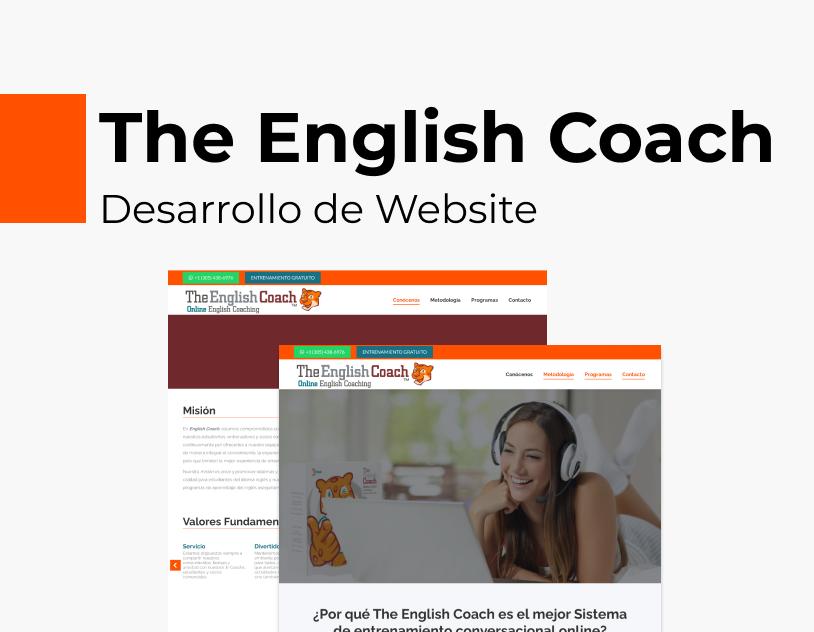 Portada Behance - The English Coach Desarrollo Web